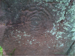 cup and ring mark on long meg